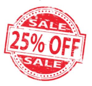 25% Discount on November 2018